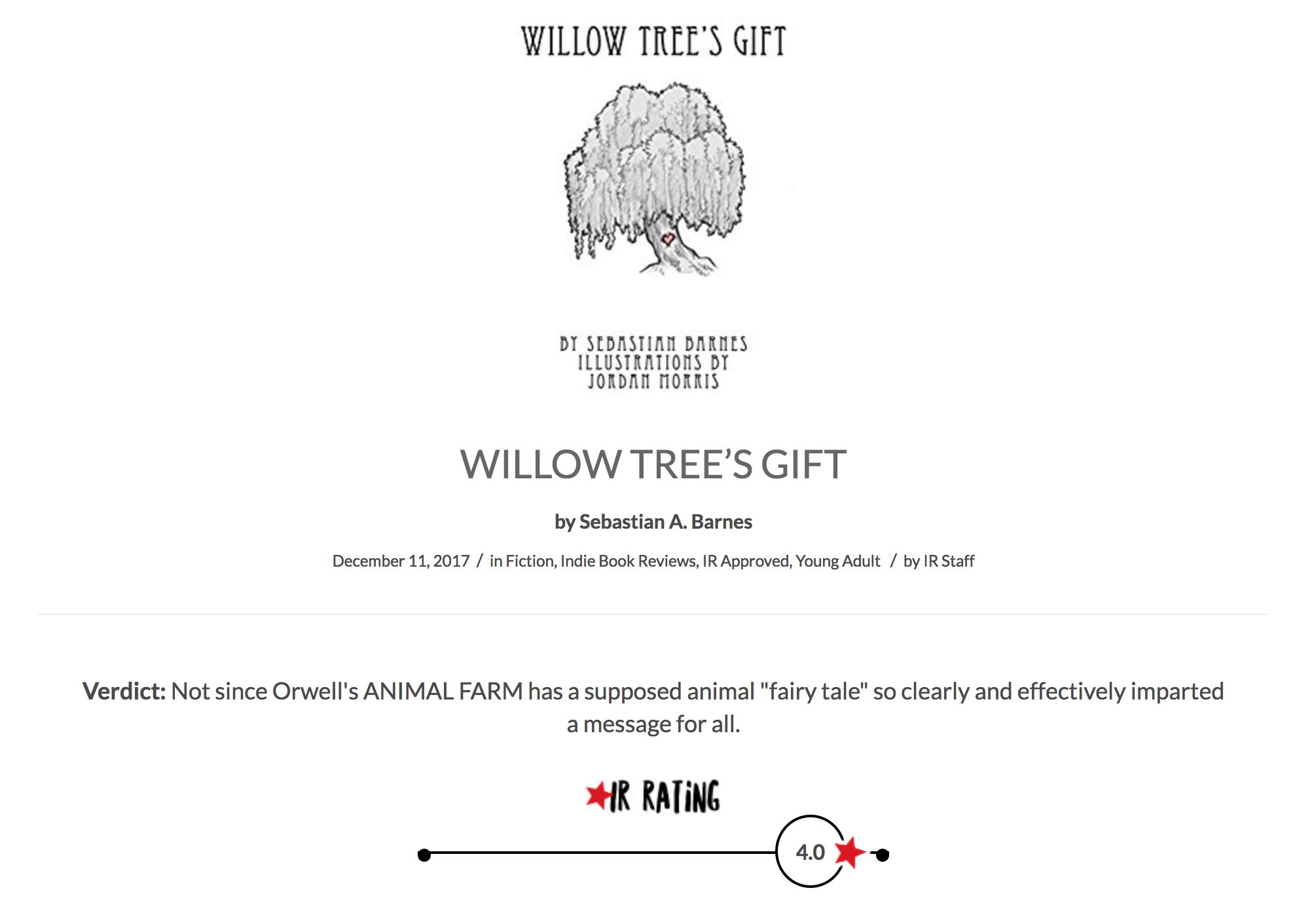 IndieReader Review Willow Trees Gift